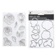 Clear Stamps with Coordinating Dies set - Florenza