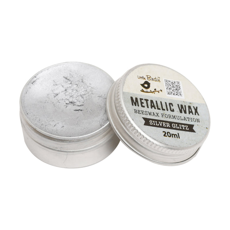 Metallic Wax- Silver Glitz, 20ml