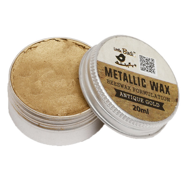 Metallic Wax- Antique Gold, 20ml