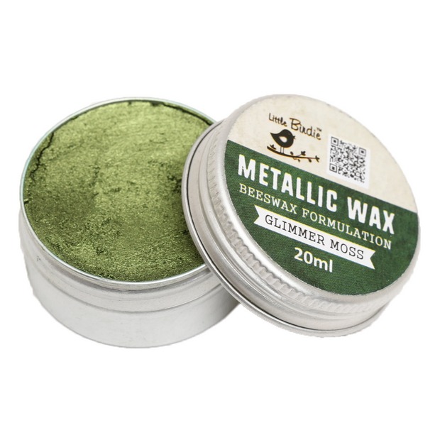 Metallic Wax- Glimmer Moss, 20ml