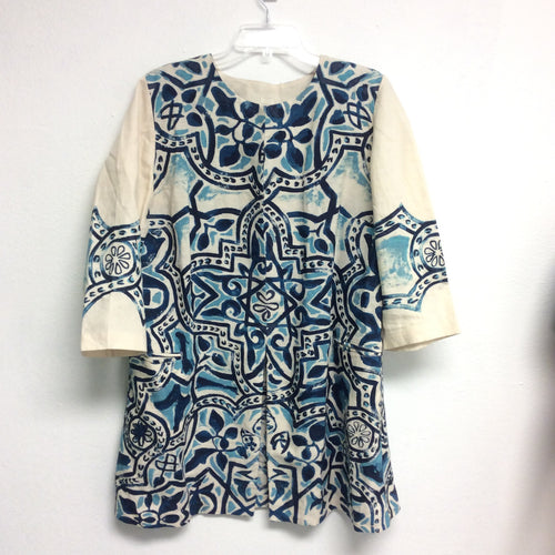 Chico's Blue Pattern Tunic