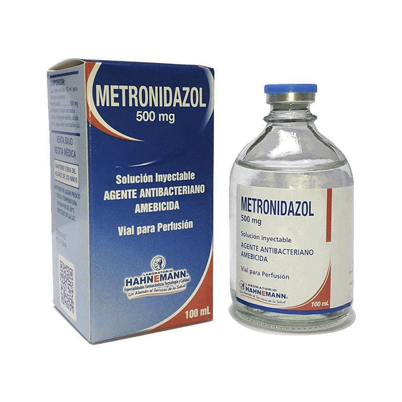 METRONIDAZOL 500 MG/100 ML SOL INY + GI