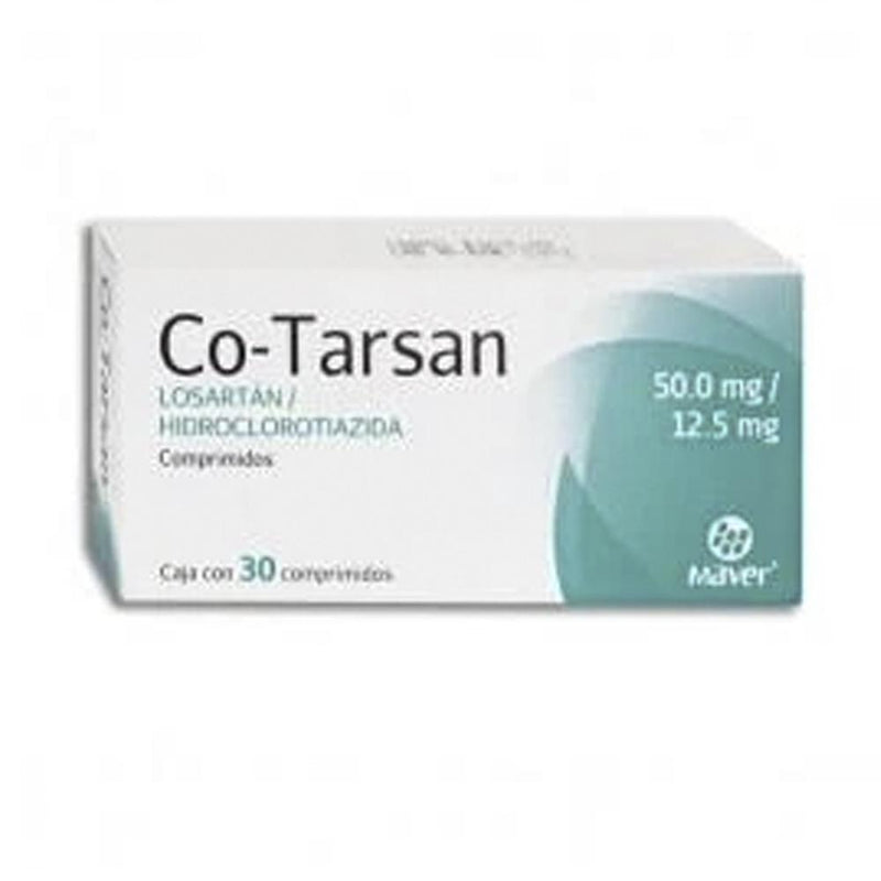 CO-TARSAN 50/12.5 MG CPR C/30 GI