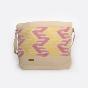 Pink & Yellow - Crossbody Bag