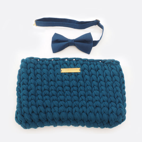 Dark Blue 'Clutch' Bag - Big