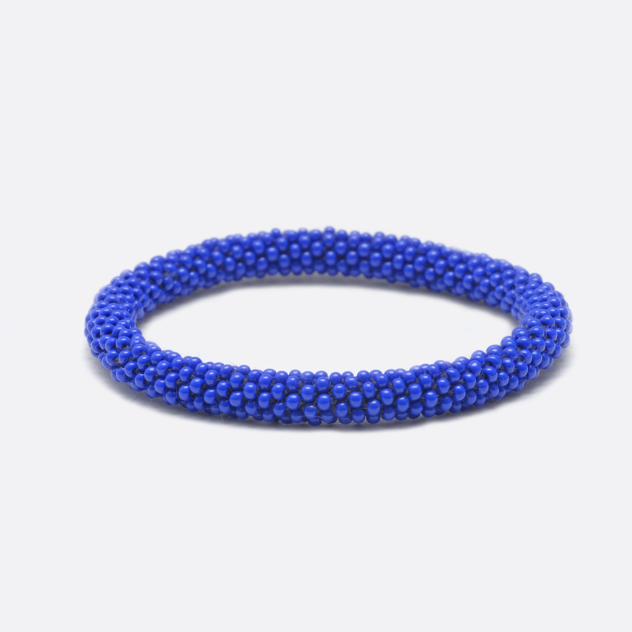 Beaded Bracelet - Blue Plain