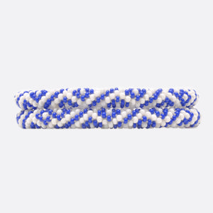 Beads Bracelet Set - Blue & White Square