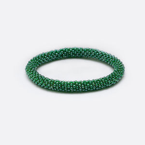 Beads Bracelet - Shiny Dark Green