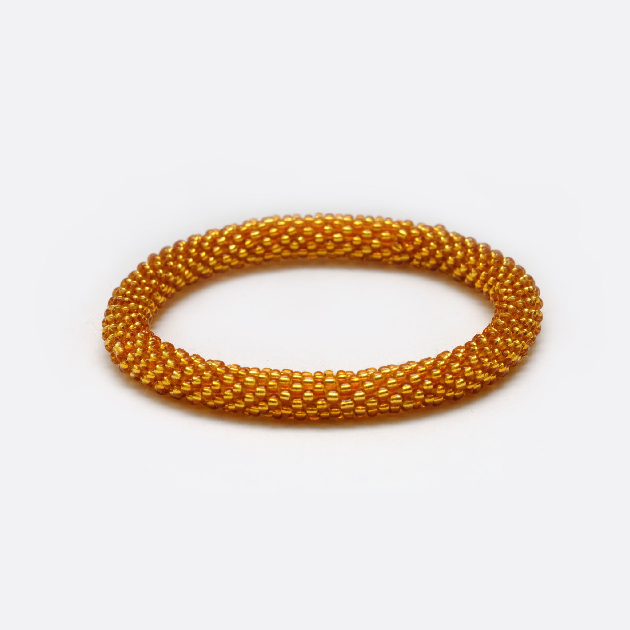 Beaded Bracelet - Shiny Gold
