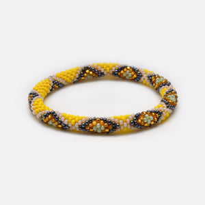 Beaded Bracelet - Yellow Snake