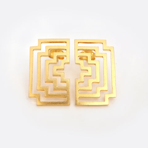 Homage To Peti – Gold- Plated Earrings