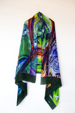 Gohoro- Monitor Lizard Silk Shawl