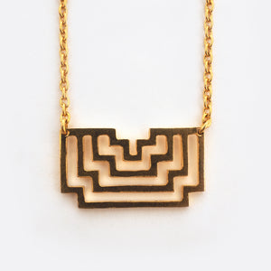 Homage To Peti – Big Gold- Plated Necklace