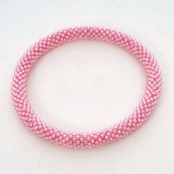 Beaded Bracelet - Pink Shiny
