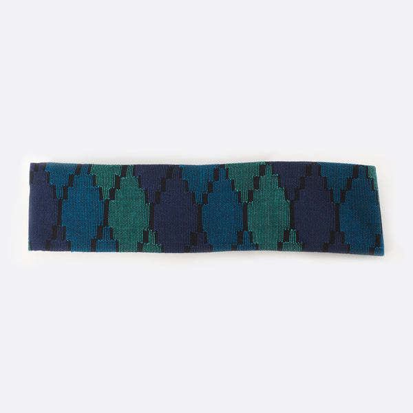 Front view of the Deep Blue Sea headband. The background is white.