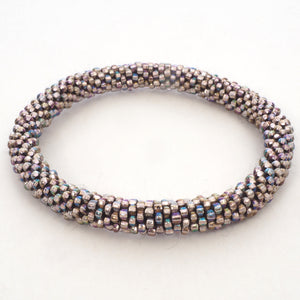 Beaded Bracelet - Rose Multi Color Shiny