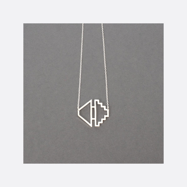 Homage To Dhaka N°4 – Small Silver Necklace