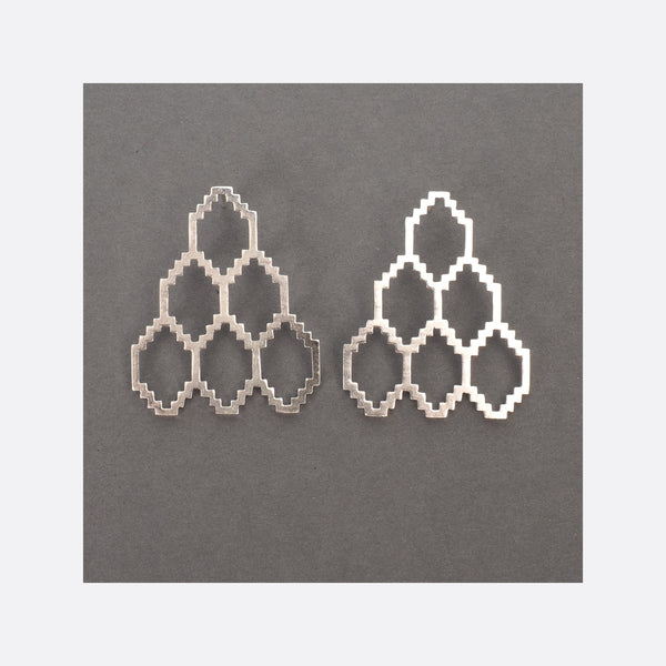 Homage to Dhaka N°3 – Silver Earrings