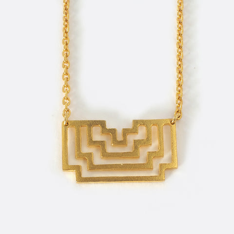 Homage To Peti – Small Gold- Plated Necklace