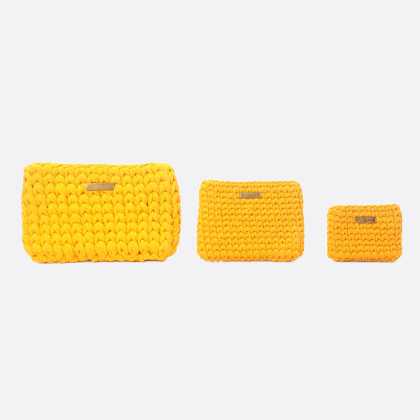 Yellow 'Clutch' Bag - Medium