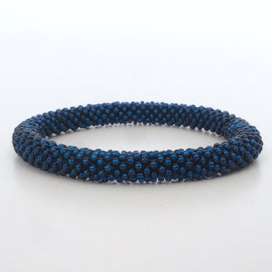 Beaded Bracelet - Dark Shiny Blue