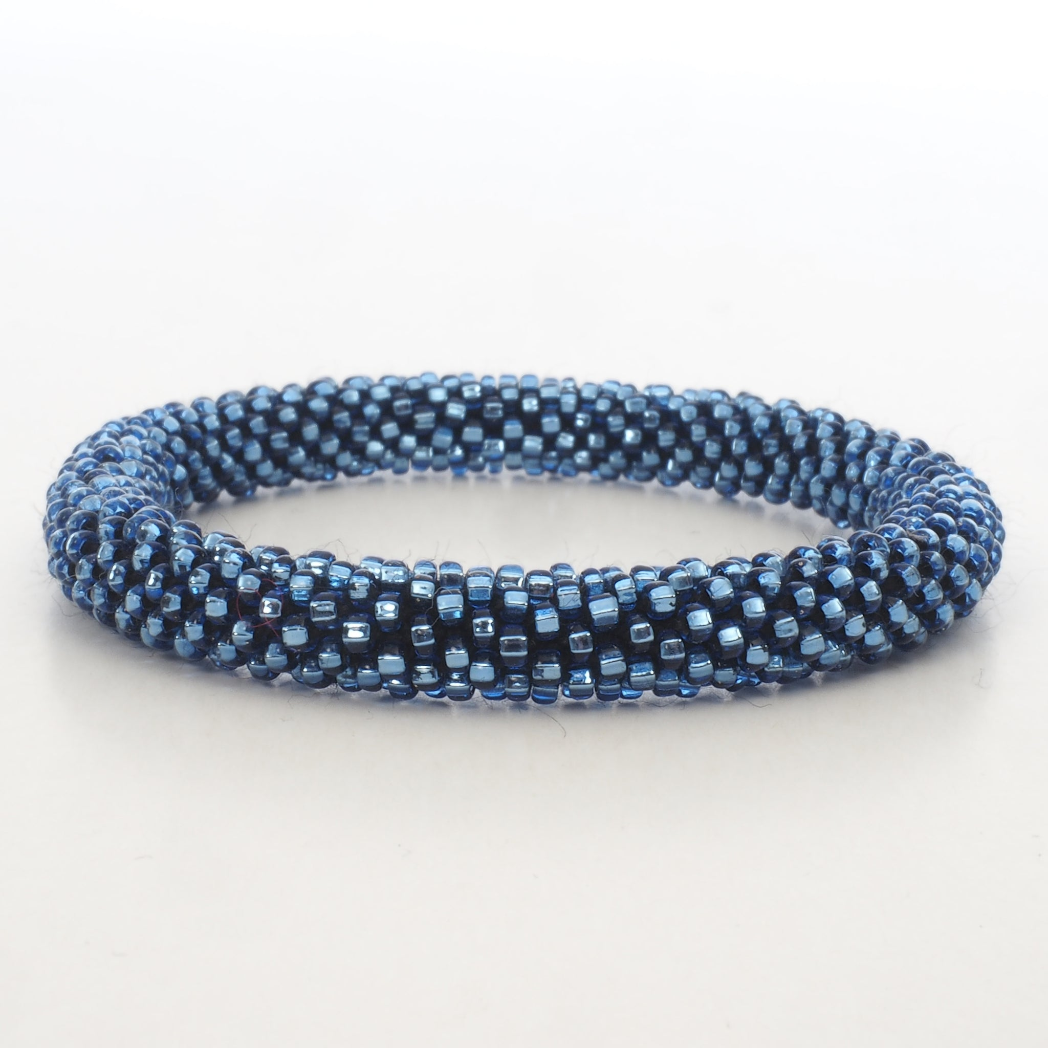 Beaded Bracelet - Shiny Blue