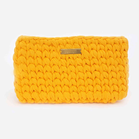 Yellow 'Clutch' Bag - Big