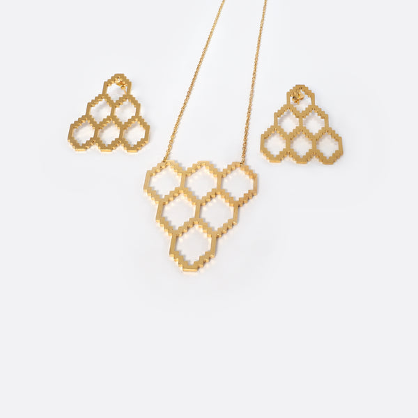 Homage To Dhaka N°3 – Gold- Plated Necklace