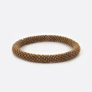 Beaded Bracelet - Gold & Light Thread