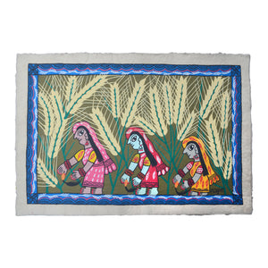 Women Cutting Wheat by Rajkumari Mandal