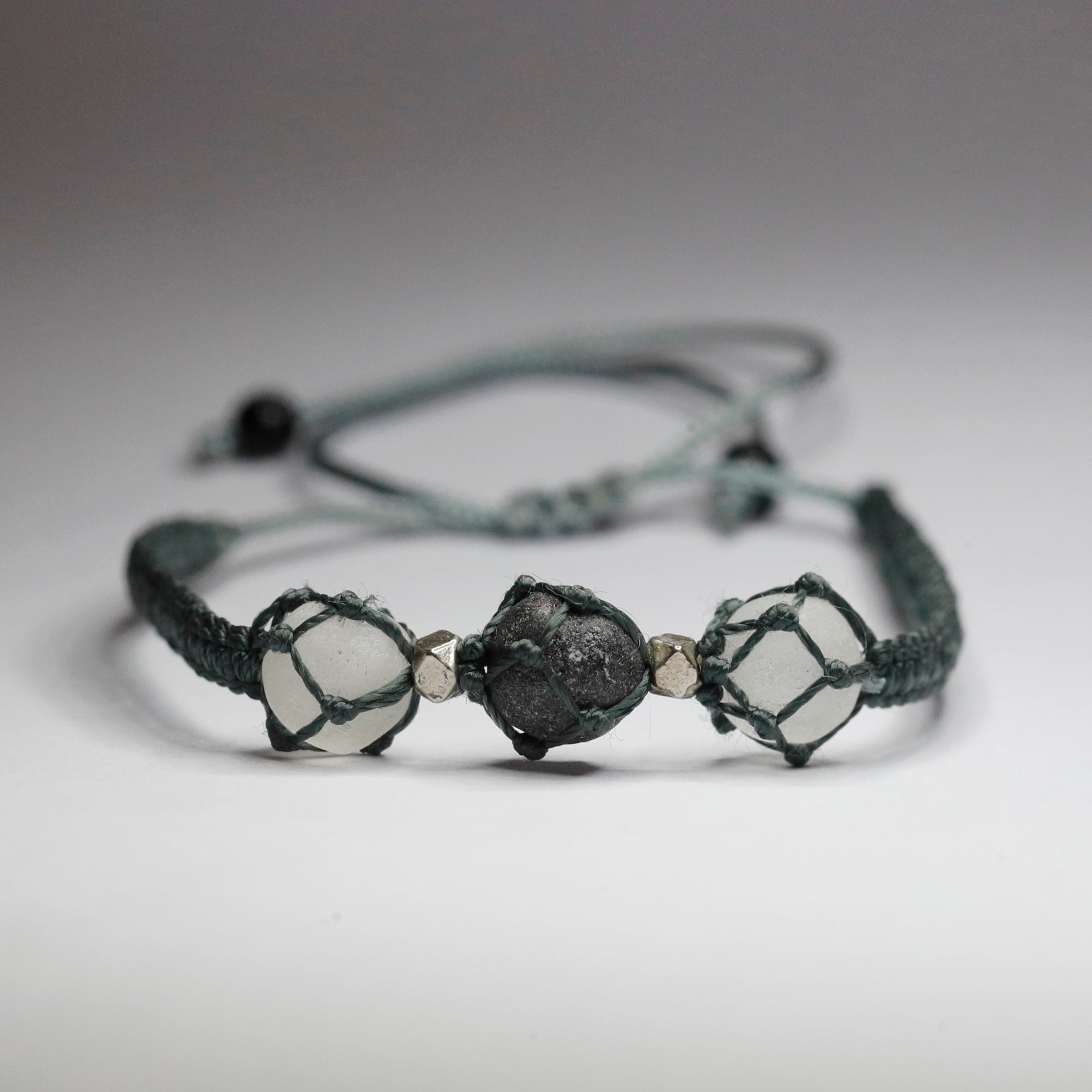 Trio Black Stones Bracelet - The Protector