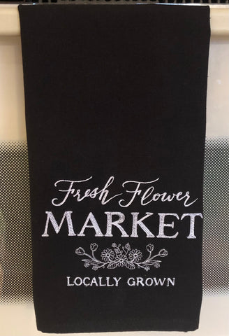 Fresh Flower Market Kitchen Hand Towel