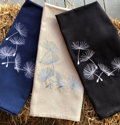 Kitchen Hand Towel with Seed Pods