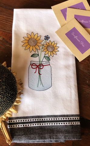 Sunflower Hand Towel with Sunflower Trio Seed Collection