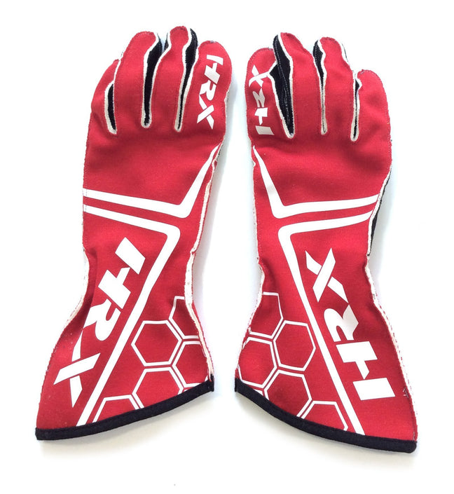 The Racer - FIA homologated gloves in Red - HRX