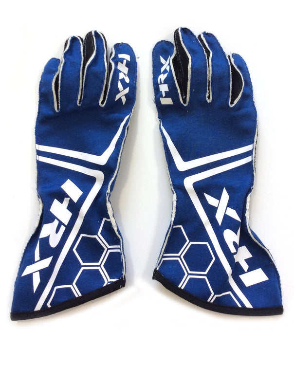 The Racer FIA homologated gloves in Navy Blue - HRX