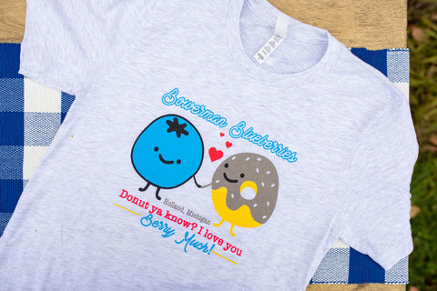 "Short Sleeve T-Shirt ""Donut you know I love you"""