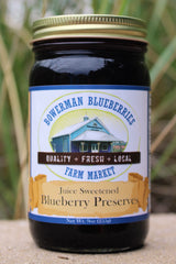 Juice Sweetened Blueberry Preserves 9 oz