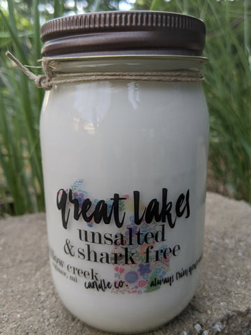 Great Lakes Unsalted & Shark Free Michigan Candle