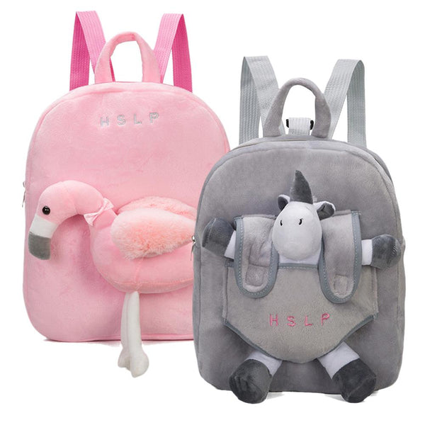 Cute Cartoon Animal Mini Plush Backpacks Baby Bags