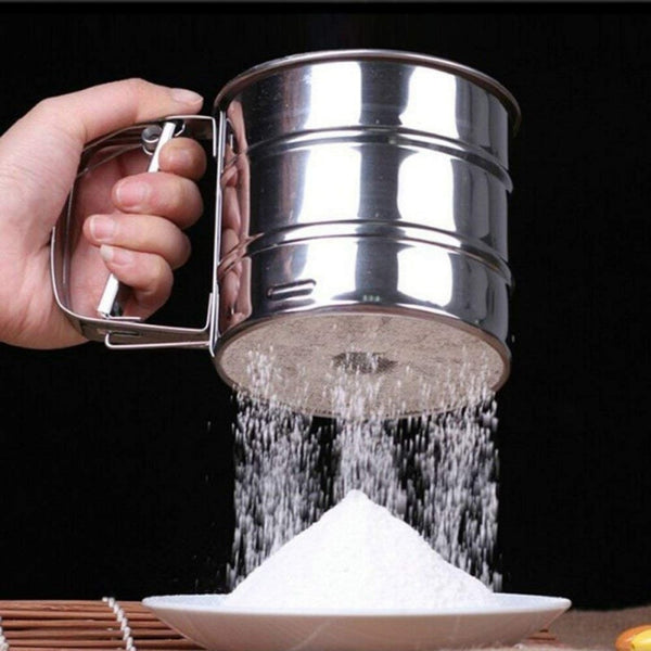 Stainless Steel Sieve Cup Powder Flour
