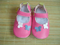 soft soled Genuine Leather baby shoes