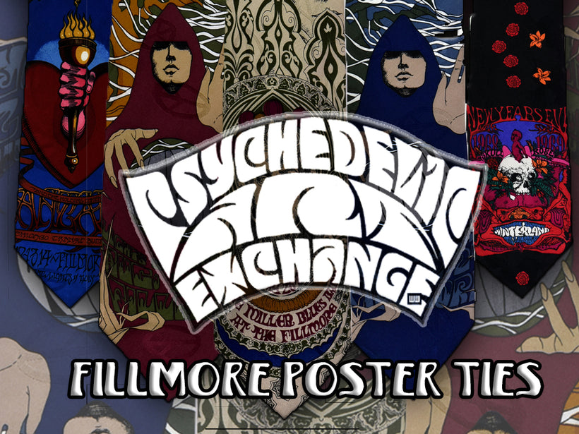 The FILLMORE POSTER TIES collection