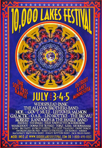 10,000 Lakes Festival 2003 Detroit Lakes July 2nd Poster