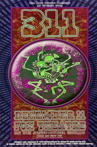 311 Fox Theater December 11th Poster