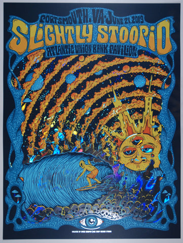 Slightly Stoopid Portsmouth/Virginia Beach June 21, 2019 Rainbow Lava Foil