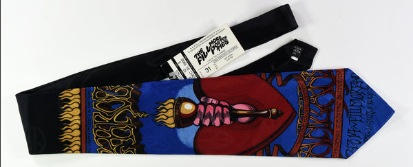 "BG-136 POSTER TIE : HEART & TORCH : BIG BROTHER & THE HOLDING CO : MULBERRY NECKWEAR's ""FILLMORE POSTER TIES"""