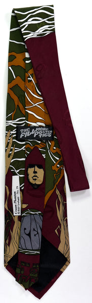"BG-79 POSTER TIE : CREAM PHANTOM RED : PAUL BUTTERFIELD : MULBERRY NECKWEAR's ""FILLMORE POSTER TIES"""
