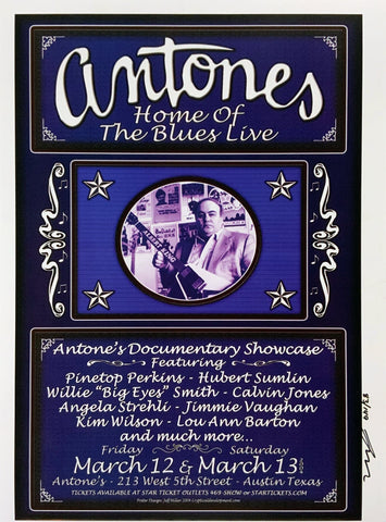Antone's 2004 March 12th Uncut Signed Poster