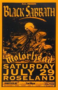 Black Sabbath With Motorhead Roseland July 29th Poster